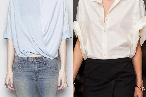 Удобные женские блузки с коротким рукавом: модели 2018 года для работы и прогулок на фото