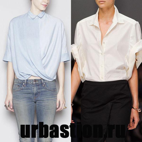 Удобные блузки с короткими рукавами