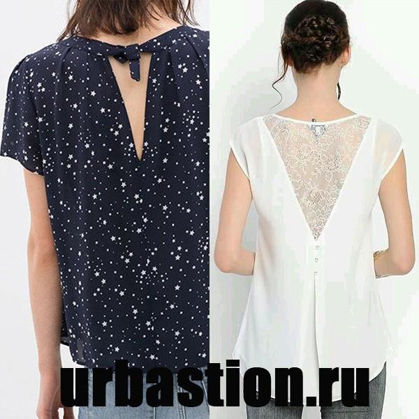 На фото блузка с коротким рукавом на лето