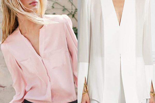 Женские блузки из шелка на 2018 год: новинки натуральной роскоши