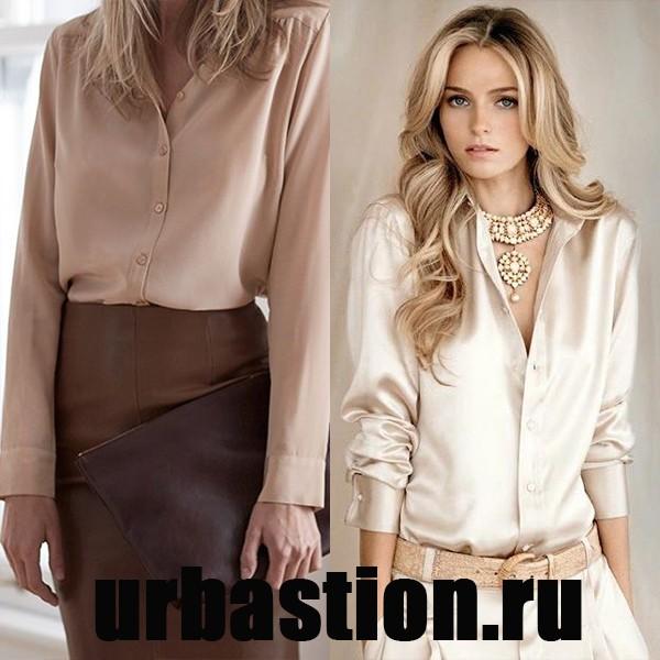 Модные блузки из шелка