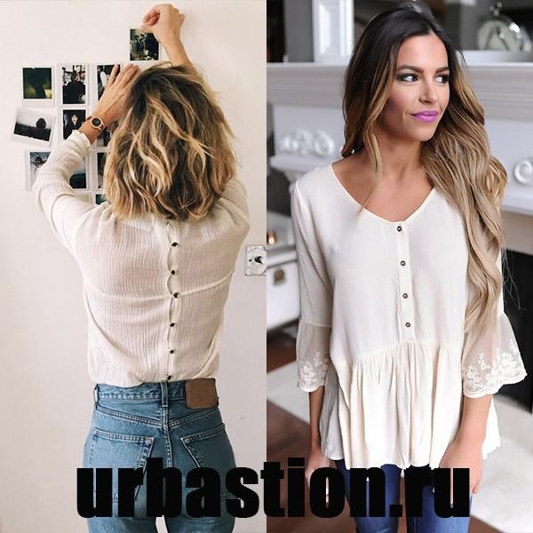 e35323c6700 Второй по популярности материал для летних женских блузок — это лен. Он