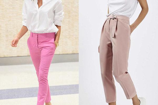 Женские розовые брюки, как одна из главных тенденций лета 2018 года