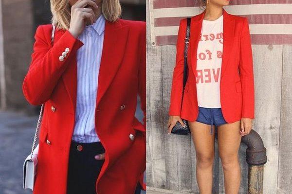 Красный пиджак или жакет, как способ самовыражения в 2018 году