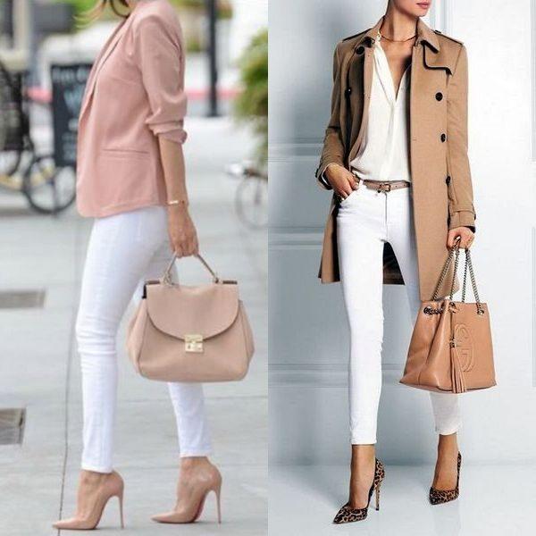 Женские белые джинcы 2018 года — модные образы лета и осени на фото