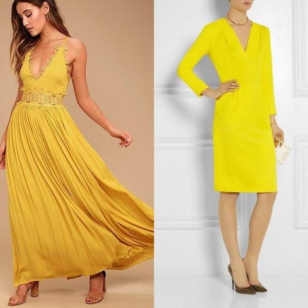 Модели желтых летних в