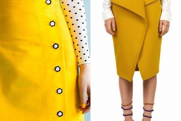 Женские желтые юбки в модных образах 2018 года