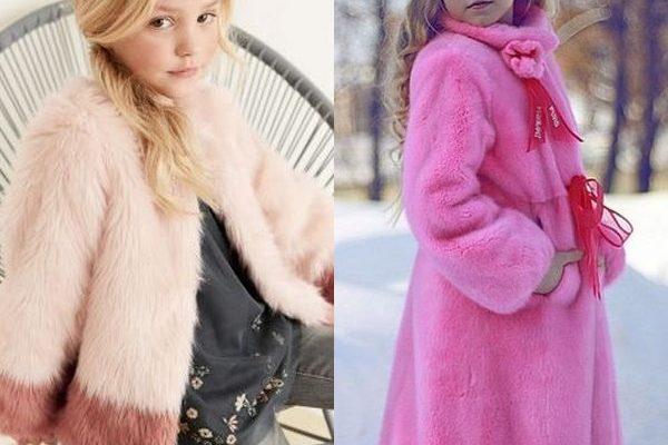 Модные шубы для девочек на зиму 2018 года: детская мода на мех