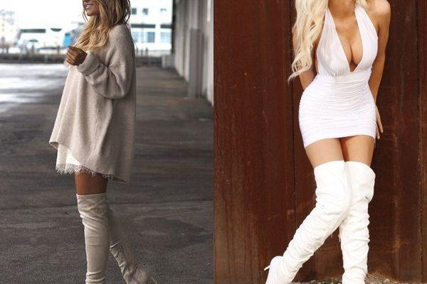 Белые ботфорты: модная женская обувь на зиму и осень 2018 года
