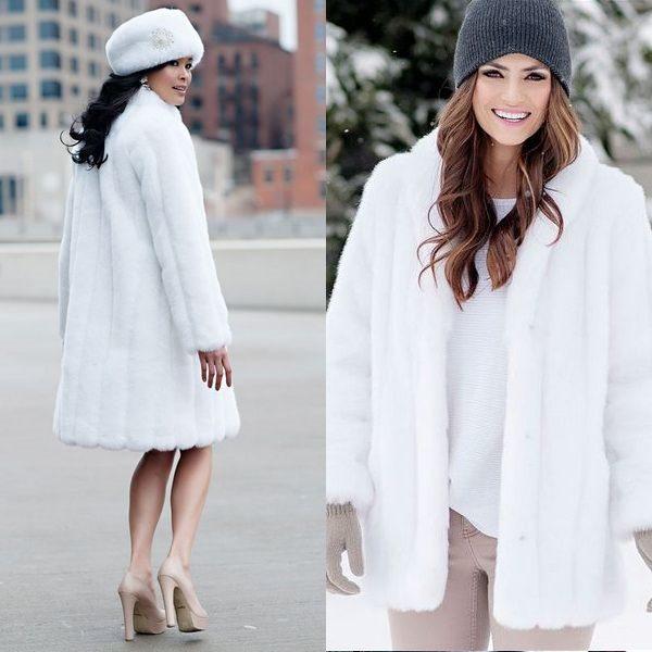 Норковая белая шуба: ценная вещь из гардероба успешной женщины на зиму 2018 года