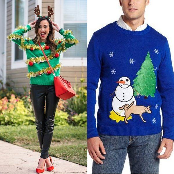 Новогодние свитеры 2018 года: счастливый Новый год и рождественское чудо