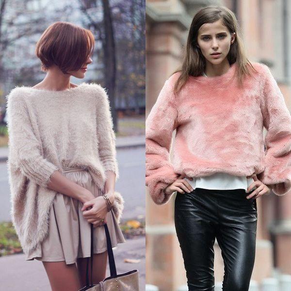 Мягкий и пушистый свитер для модниц