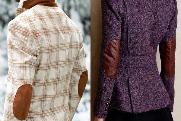 Женские и мужские пиджаки с заплатами на локтях