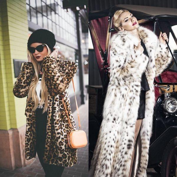 Привлекательные искусственные и натуральные леопардовые шубы: элитные меховые изделия