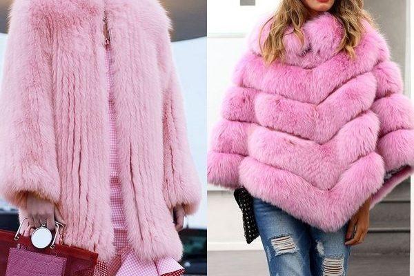 Оригинальная розовая шуба: гламурная тенденция 2018 года