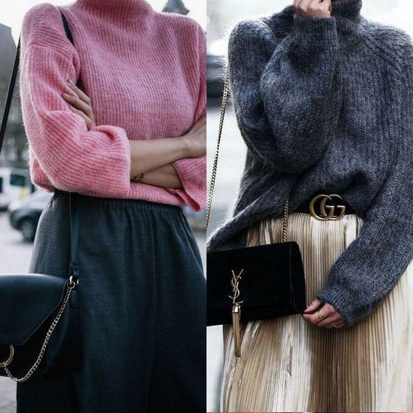 С чем носить свитер в 2018 году и как правильно сочетать для создания красивого образа