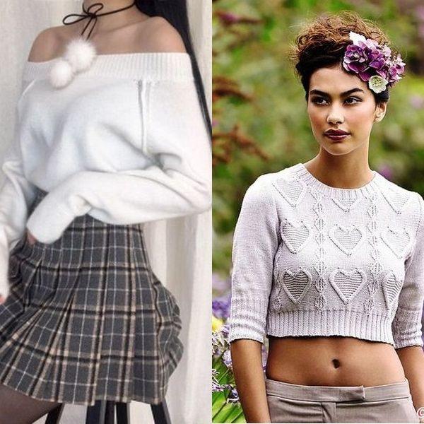 Укороченные и короткие свитеры 2018 года: модные женские модели для девушек