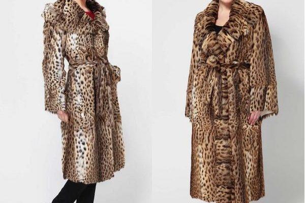 Жилеты и шубы из камышового кота: элитные меховые манто для женщин