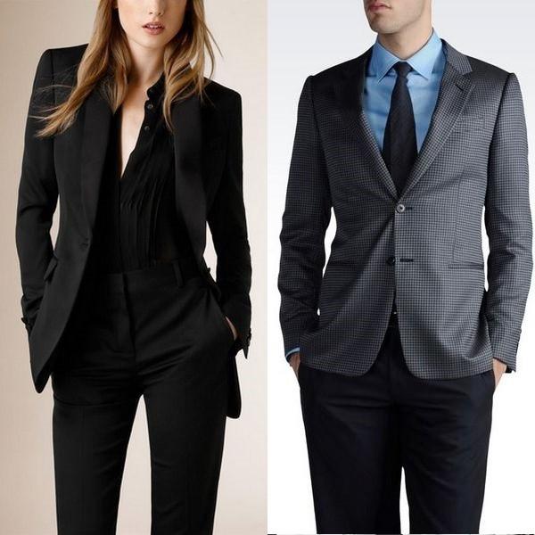 На фото шерстяной пиджак для женщины и мужчины
