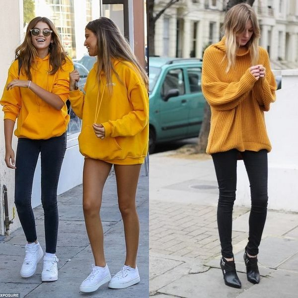 Женский желтый свитер на 2018 сезон: яркий популярный тренд