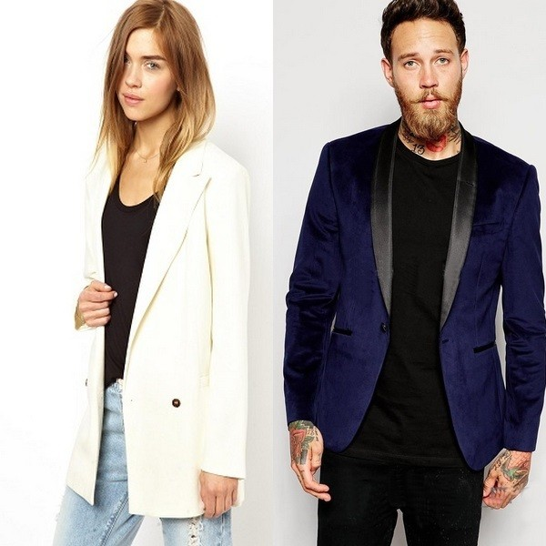 На фото замшевый пиджак для мужчин и женщин