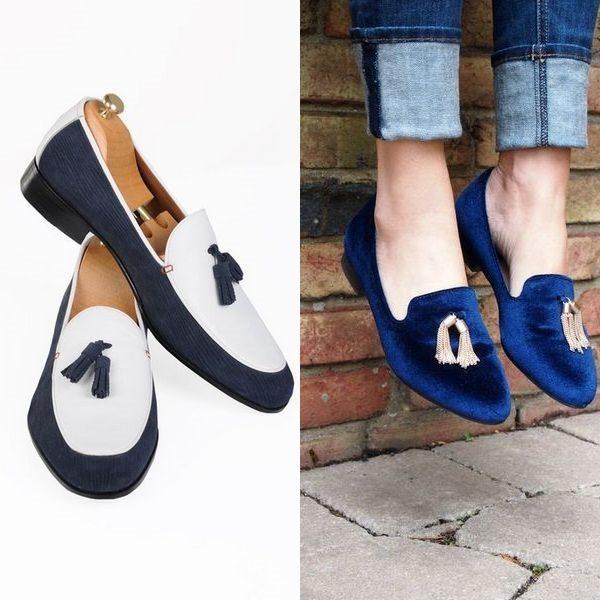 Синие лоферы для женщин 2018 года: стильный и универсальный вариант обуви