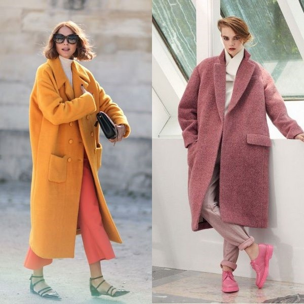 На фото пальто оверсайз для девушек