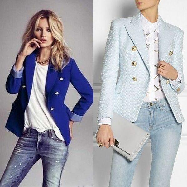 Двубортный пиджак 2018 года: универсальный и деловой атрибут гардероба