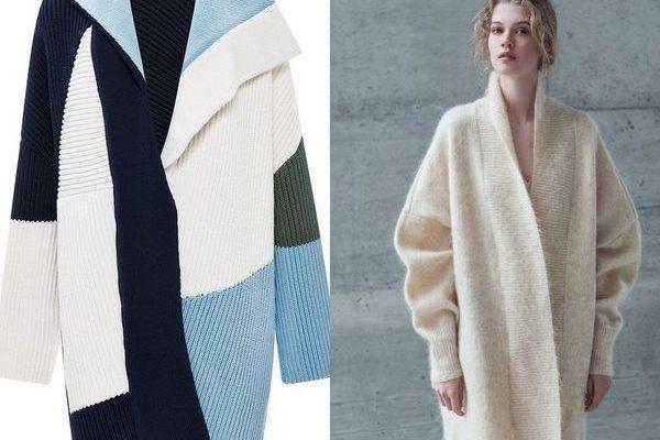 Вязаное пальто 2018: женская практичность и современная мода