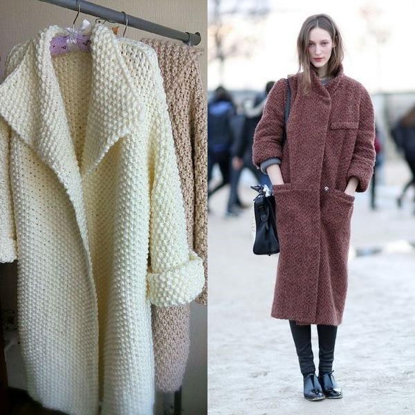 вязаное пальто 2018 женская практичность и современная мода Urbastion