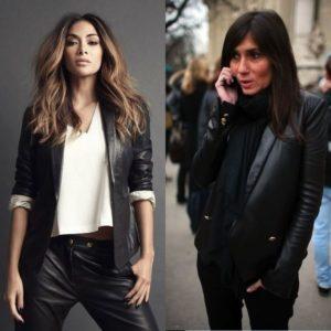 На фото кожаный пиджак для женщин