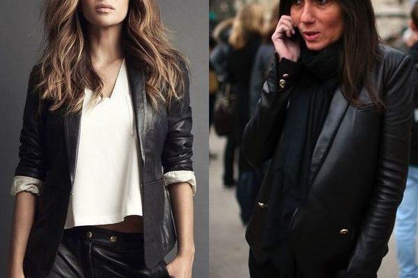Женские кожаные пиджаки: спорт-шик модели