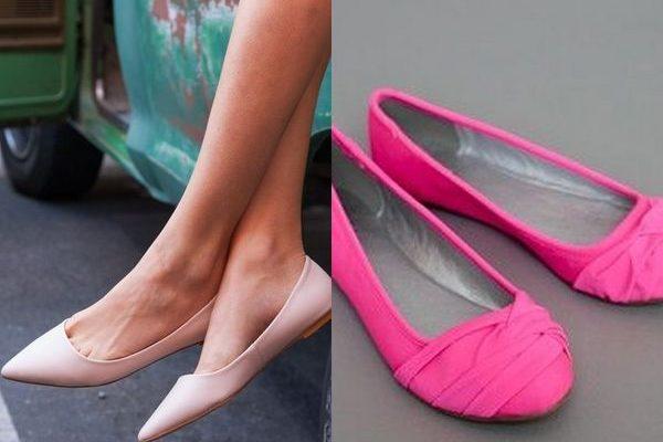 Розовые балетки: женственная и романтичная обувь на 2018 год