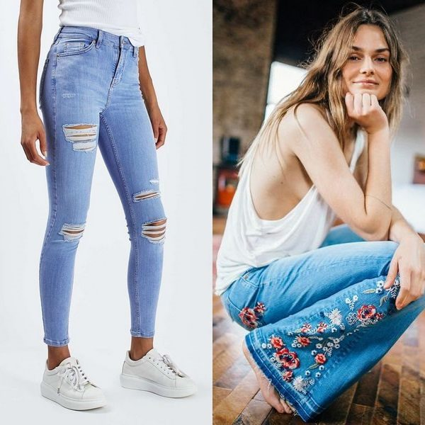 Легкие летние джинсы для женщин
