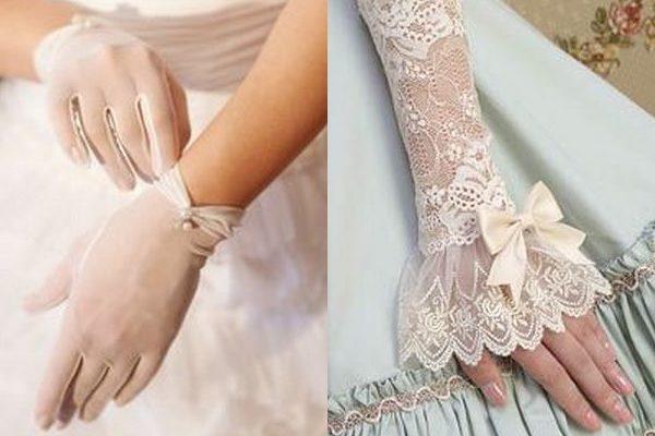 Свадебные перчатки для невест