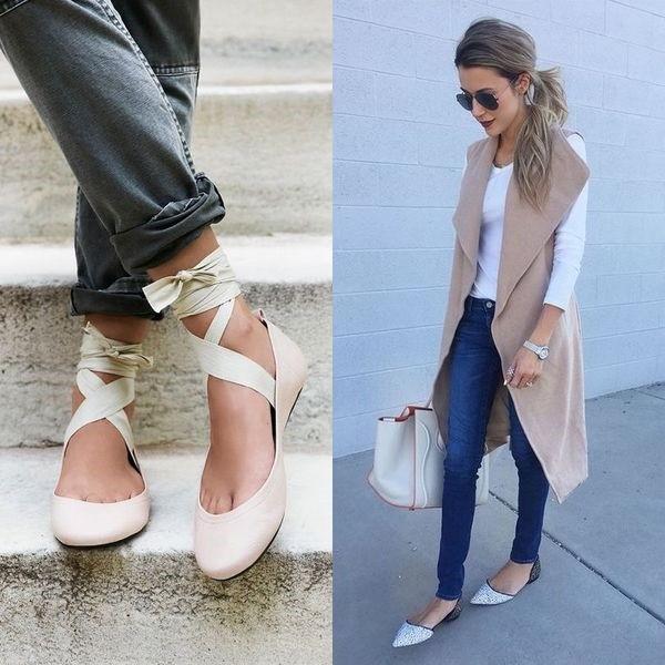 4858409da В моде в 2018 году стильные женские брюки кюлоты, с ними стоит хотя бы  попробовать носить белые балетки для девушек. Посмотрите еще несколько  актуальных ...