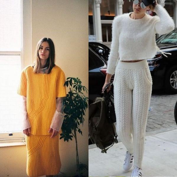 женские вязаные костюмы модные варианты на 2018 год Urbastion