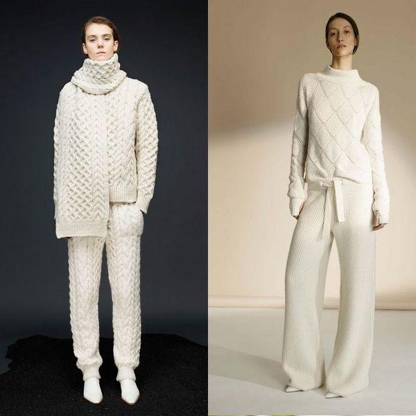 Женские вязаные костюмы: модные варианты на 2018 год