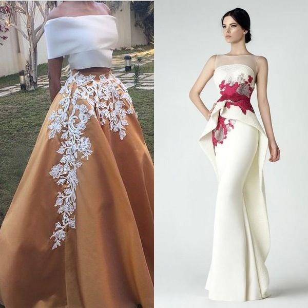 8233e950b59 Очень спорным решением для создания выпускного платья является бело-красное  сочетание. Но