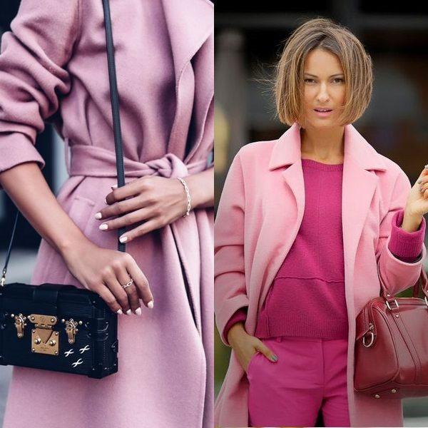 Розовое пальто 2018 года: модный обзор будущего тренда