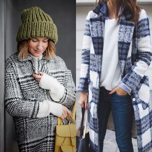 Пальто в клетку для женщин на 2018 год: новинки для модниц