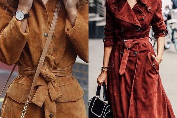 Пальто из замши: модели и фасоны 2018 года