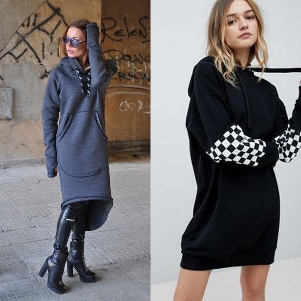 6d5ee6e0dbc Платье с капюшоном  новый тренд среди спортивных платьев 2018 года ...