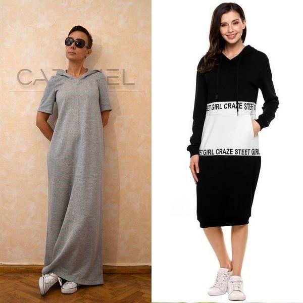 a7c63b71233 Роскошные длинные платья с капюшоном в вечернем варианте – это отличный  вариант для тех