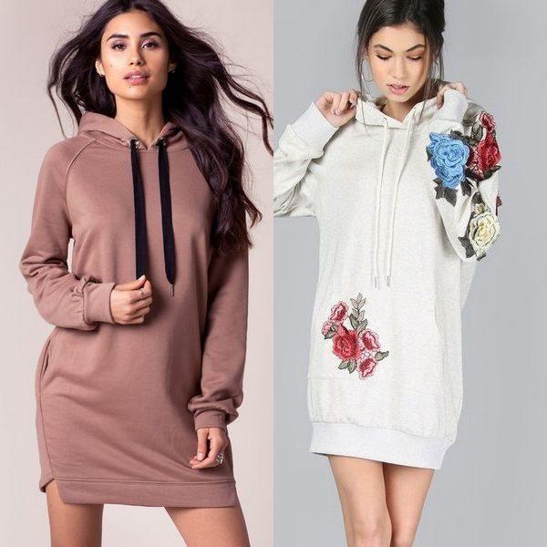 Платье с капюшоном: новый тренд среди спортивных платьев 2018 года