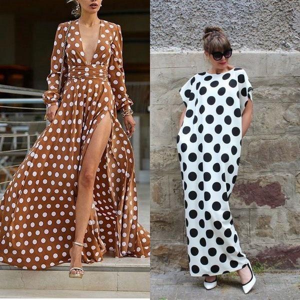 06cd297ffcd Для полных женщин подойдет красивое платье в горошек