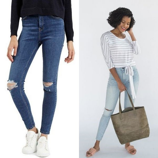 На джинсах дырка на коленках