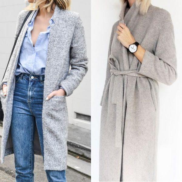Серое пальто 2018 года: актуальная и универсальная верхняя одежда для женщин