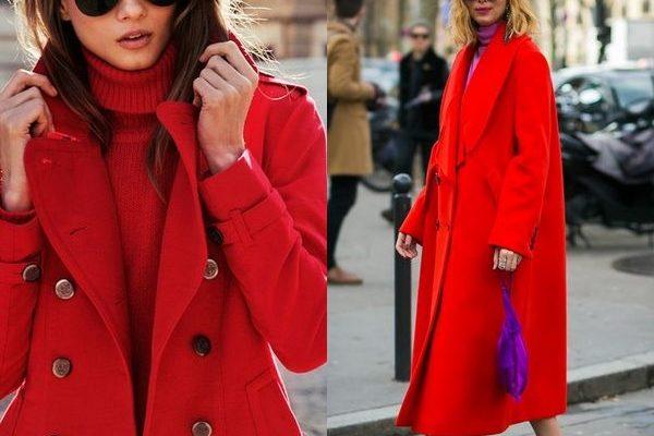 Красное пальто: современные фасоны для модниц