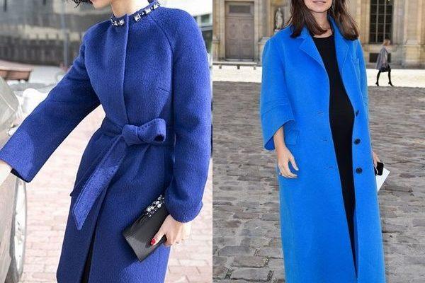 Синее пальто 2018 года: уникальный и универсальный вариант для женщин